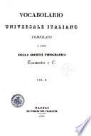 Vocabolario universale italiano compilato a cura della Societ   Tipografica Tramater e Ci  Vol  1    7