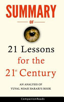 Book Summary of 21 Lessons for the 21st Century