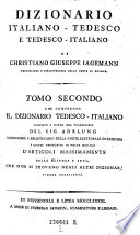 Dizionario italiano tedesco e tedescoitaliano di Cristiano Giuseppe Jagemann