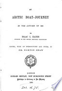 An Arctic Boat Journey in the Autumn of 1854
