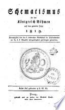 Schematismus für das Königreich Böhmen auf das gemeine Jahr 1819