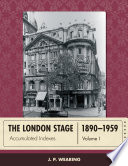 The London Stage 1890 1959