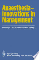 Anaesthesia     Innovations in Management