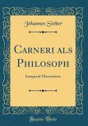 Carneri als Philosoph