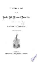 Proceedings of the Bunker Hill Monument Association at the Annual Meeting