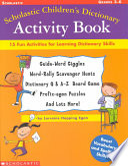 Scholastic Children s Dictionary Activity Book