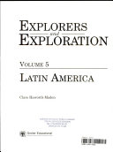 Grolier Student Library of Explorers and Exploration: Latin America Through Space And Underwater Exploration