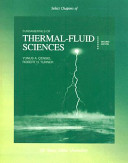 Select Chapters of Fundamentals of Thermal Fluid Sciences Thermodynamics