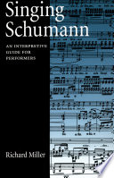 Singing Schumann
