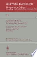Kommunikation in Verteilten Systemen I
