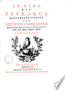 Le rime del Petrarca