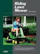 Riding Lawn Mower Service Manual
