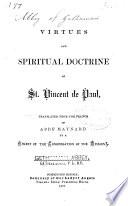 Virtues and Spiritual Doctrine of St  Vincent de Paul Book PDF