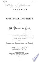 Virtues and Spiritual Doctrine of St. Vincent de Paul