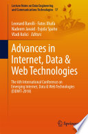 Advances in Internet, Data & Web Technologies