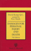 Damages for Personal Injury and Death