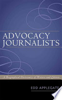 Advocacy Journalists Editors Who Contributed To Advocacy