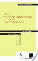 De la finance informelle à la microfinance
