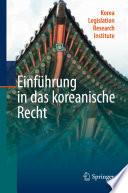 Einf  hrung in das koreanische Recht