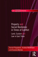 Property and Social Resilience in Times of Conflict