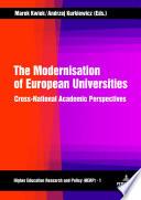 The Modernisation of European Universities