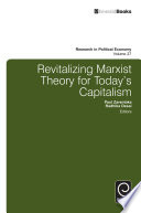 Revitalizing Marxist Theory for Today s Capitalism