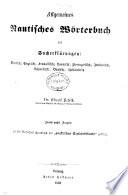 Allgemeines nautisches Wörterbuch mit Sacherklärungen