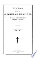 Agricultural extension  H R  7951  Uniform standards for cotton  H R  14492  Regulation of cotton exchanges  Importation of cattle  H R  13039  National marketing commission  Quarantine of cattle  H R  21443