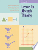 Lessons For Algebraic Thinking