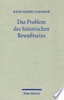 Das Problem des historischen Bewusstseins