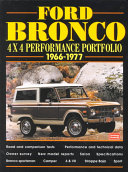 Ford Bronco 4x4 Performance Portfolio 1966 1977