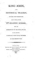 download ebook king john, an historical tragedy pdf epub