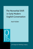 download ebook the nonverbal shift in early modern english conversation pdf epub