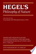 Hegel S Philosophy Of Nature book