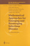 Mathematical Approaches for Emerging and Reemerging Infectious Diseases: An Introduction