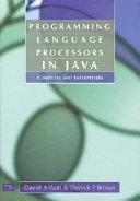 Programming Language Processors In Java