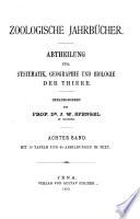 Zoologische Jahrbücher. Abteilung für Systematik, Geographie und Biologie der Tiere