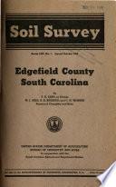 Soil Survey  Edgefield County  South Carolina