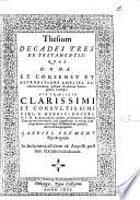 Thesium decades tres de testamentis