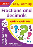 Fractions and Decimals Quick Quizzes Ages 7-9