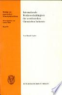 Internationale Wettbewerbsfähigkeit der westdeutschen chemischen Industrie