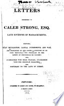 Letters Addressed To Caleb Strong