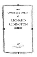 Book The Complete Poems of Richard Aldington