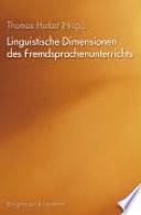 Linguistische Dimensionen des Fremdsprachenunterrichts