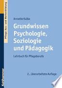 Grundwissen Psychologie  Soziologie und P  dagogik