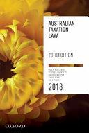 Australian Taxation Law 2018