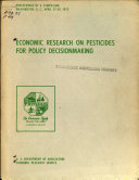 Economic Research On Pesticides For Policy Decisionmaking