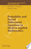 Probability And Partial Differential Equations In Modern Applied Mathematics book