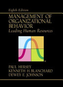 Management of Organizational Behaviour  Leading Human Resources