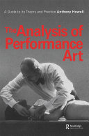 download ebook the analysis of performance art pdf epub
